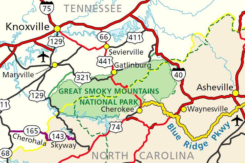 Clingmans Dome Map