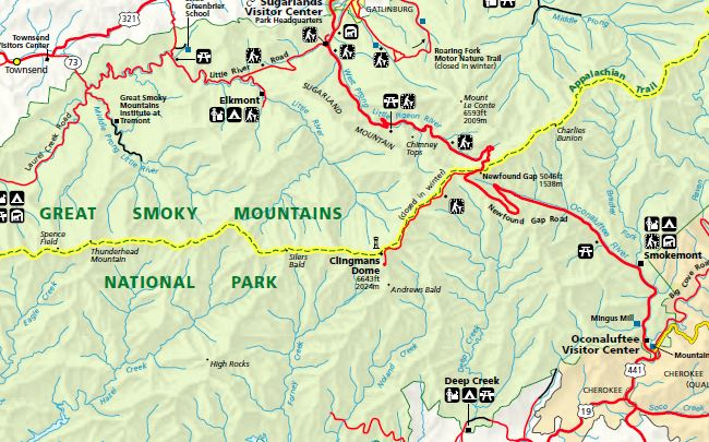 Clingmans Dome Map Clingmans Dome Map Clingmans Dome Map